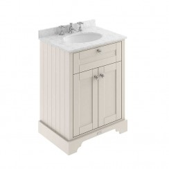 Old London Timeless Sand Traditional 600mm Cabinet With Grey Marble Basin Top 3TH