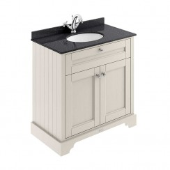 Old London Timeless Sand Traditional 800mm Cabinet With Black Marble Basin Top 1TH