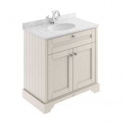 Old London Timeless Sand Traditional 800mm Cabinet With Grey Marble Basin Top 1TH