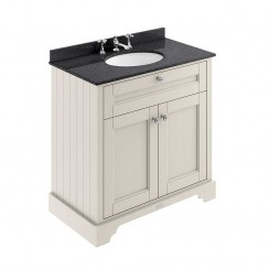 Old London Timeless Sand Traditional 800mm Cabinet With Black Marble Basin Top 3TH