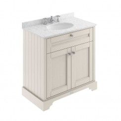 Old London Timeless Sand Traditional 800mm Cabinet With Grey Marble Basin Top 3TH