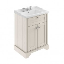 Old London Timeless Sand Traditional 600mm Cabinet With Ceramic Basin 3TH