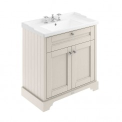 Old London Timeless Sand Traditional 800mm Cabinet With Ceramic Basin 3TH