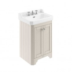 Old London Timeless Sand Traditional 600mm Cloakroom Basin Unit 3TH Dimensions