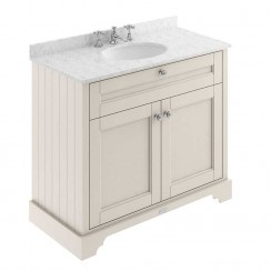 Old London Timeless Sand Traditional 1000mm Cabinet With Grey Marble Basin Top 3TH