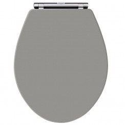 Old London Storm Grey Traditional Soft Close Toilet Seat