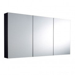 Quartet Hacienda Black Wood Mirror Cabinet 1440mm