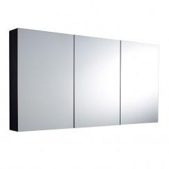 Quartet Hacienda Black Wood Mirror Cabinet 1440mm