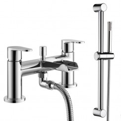 Ludlow Bath Shower Mixer Tap & Rail Kit