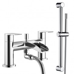 Malibu Bath Shower Mixer Tap & Rail Kit