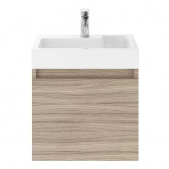 Merit Driftwood 500mm Wall Hung Vanity unit & Basin