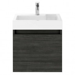 Merit Hacienda Black 500mm Wall Hung Vanity unit & Basin