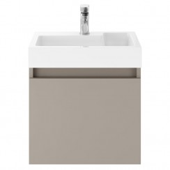 Merit Stone Grey 500mm Wall Hung Vanity unit & Basin
