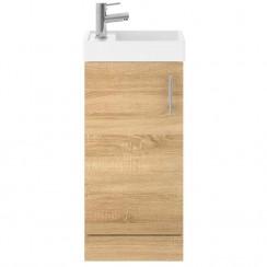Vault Natural Oak 400mm Floor Standing Cabinet & Basin