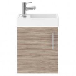 Vault Driftwood 400mm Wall Hung Cabinet & Basin