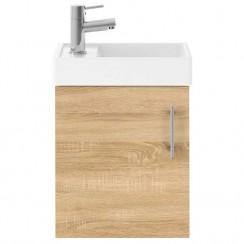 Vault Natural Oak 400mm Wall Hung Cabinet & Basin