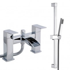Moat Bath Shower Mixer Tap & Rail Kit