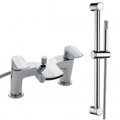Mona Bath Shower Mixer Tap & Rail Kit
