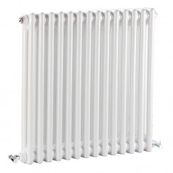 Colosseum Double Column White Traditional Radiator
