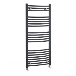 1150 X 500mm Anthracite Curved Ladder Towel Rail