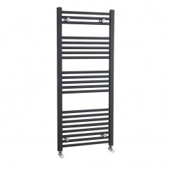 1150 X 500mm Anthracite Straight Ladder Towel Rail