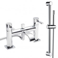Nassau Bath Shower Mixer Tap & Rail Kit