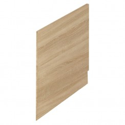 Natural Oak MDF 700mm Shower Bath End Panel