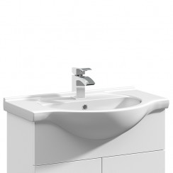 Mayford 650mm Round Semi Recessed Basin