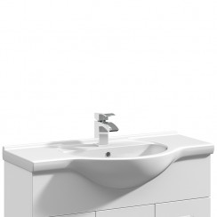 Mayford 850mm Round Semi Recessed Basin