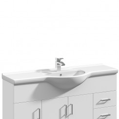 Mayford 1200mm Round Semi Recessed Basin
