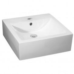 Nuie 470mm Vessel Square Ceramic Counter Top Basin