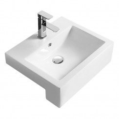 530mm Semi Recessed Square Vessel