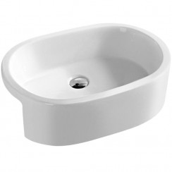 560mm Semi Recessed Rounded Vessel