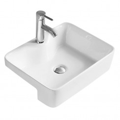 480mm Semi Recessed Rectangular Vessel