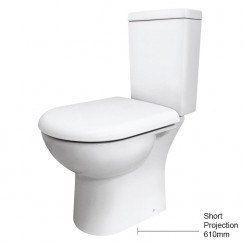 Knedlington Compact Semi Flush to Wall Pan & Cistern