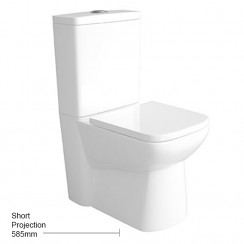 Arlo Compact Flush to Wall Pan, Cistern & Seat