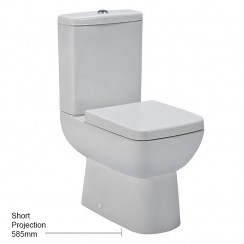 Ambrose Compact Semi Flush to Wall Pan, Cistern & Seat