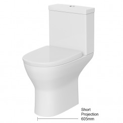 Saffron Semi Flush to Wall Pan & Cistern