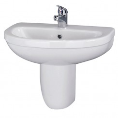 Ivo 550mm Basin & Semi Pedestal (1 Tap)