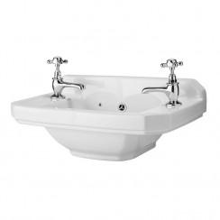 Carlton 515mm Cloakroom Basin (2 Tap Hole)
