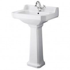 Richmond 560mm Basin & Pedestal (1 Tap Hole)