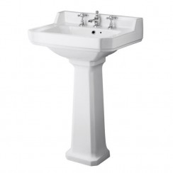 Carlton 560mm Basin & Pedestal (3 Tap Hole)
