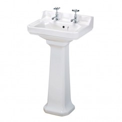 Richmond 500mm Basin & Pedestal (2 Tap Hole)