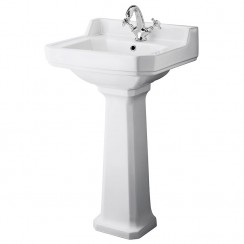 Carlton 500mm Basin & Pedestal (1 Tap Hole)