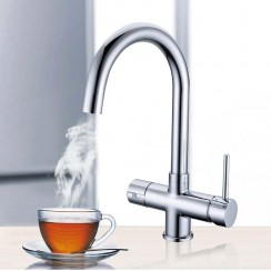 3 Way Instant Hot Water Kitchen Tap Complete Unit - Chrome