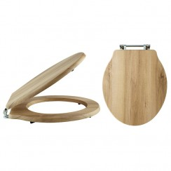 Natural Walnut Ryther Soft Close Traditional Wooden Toilet Seat