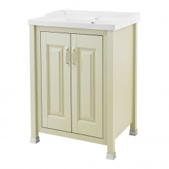 Old London Pistachio Traditional 600mm Vanity Cabinet & Basin