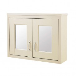 Old London Ivory Traditional Bathroom Mirror Cabinet