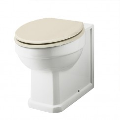 Carlton Back To Wall Pan & Ivory Seat