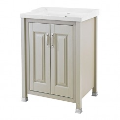 Old London Stone Grey Traditional 600mm Vanity Cabinet & Basin